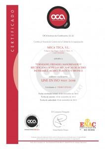 Certificado Meca Teca 9001